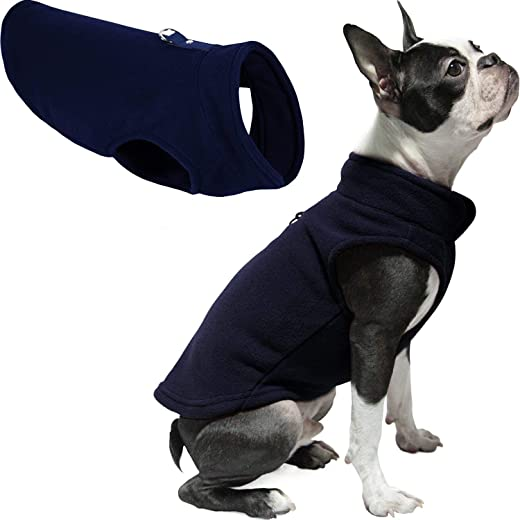 Gooby Fleece Vest Dog Sweater – Warm Pullover Fleece Dog Jacket with Leash Attachment – Winter Small Dog Sweater Coat – Cold Weather Dog Clothes…