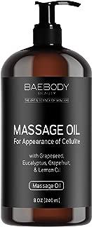 Baebody Massage Oil with Grapeseed Oil, Eucalyptus Oil, Lemon Oil & Grapefruit Oil, 8 Ounces