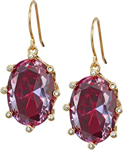 Shine On Oval Drop Earrings