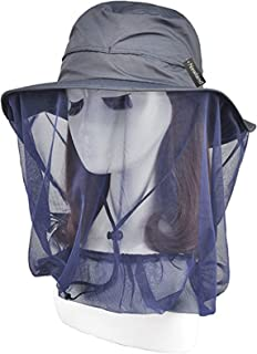 Newland Mosquito Head Net Hat, Outdoor UPF 50+ Sun Hat Bucket Hat with Net Mesh Protection from Bee Mosquito for Outdoor or Women or Fishing
