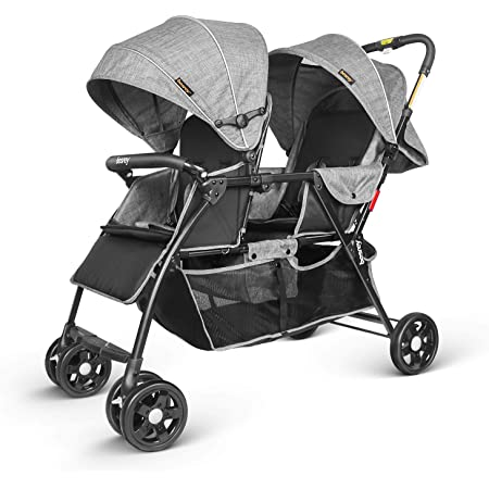 besrey Double Buggy Pushchair Pram Twin Stroller for Newborn and Toddler (0-36 Month)