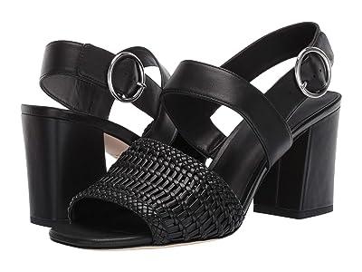 Via Spiga Evelyne 2 (Black Woven Leather) High Heels