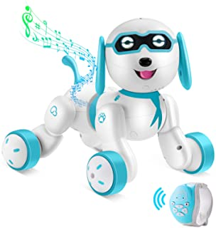 Remote Control Robot Dog - RC Robotic Stunt Puppy Smart RC Robot with LED Eyes, Interactive Walking Sing Story Telling Ele...