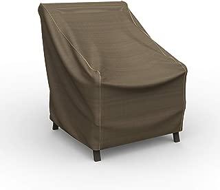 Budge P1A03BTNW3 NeverWet Hillside 庭院椅套,小号,黑色和棕色织物