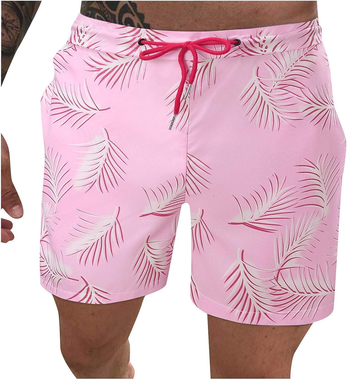 ZCAITIANYA Men's Shorts Beach Pants Summer Loose Fashion Printing Casual Training Jogging Pants Elastic Waist with Pockets