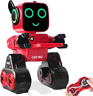 Remote Control Toy Robot for Kids, Programmable RC Robot, Touch & Sound Control, Speaks, Dance Moves, Plays Music. Built-in Coin Bank.Rechargeable Robot Kit for Boys,Girls For Age 8 Years and up