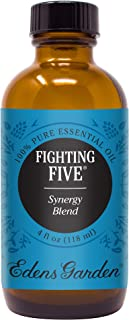 Edens Garden Fighting Five Essential Oil Synergy Blend, 100% Pure Therapeutic Grade (Highest Quality Aromatherapy Oils- Cold Flu & Detox), 118 ml