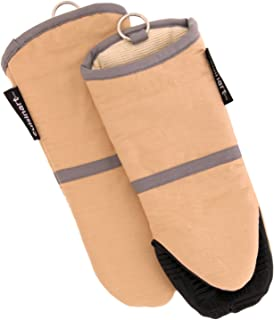 Cuisinart Silicone Oven Mitts - Heat Resistant up to 500 degrees F Handle Hot Cooking Items Safely - Non-Slip Grip Oven Gloves with Soft Insulated Deep Pockets and Convenient Hanging Loop - Beige, 2pk