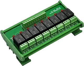 Electronics-Salon DIN Rail Mount 8 SPDT Power Relay Interface Module. (Operating Voltage: DC 5V)
