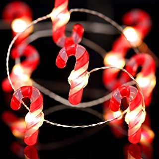Frienda Christmas Lights Decoration Xmas 10ft 40 LED String Lights with Remote Control for Christmas Home Party Bedroom Xmas Decor (Candy Cane)