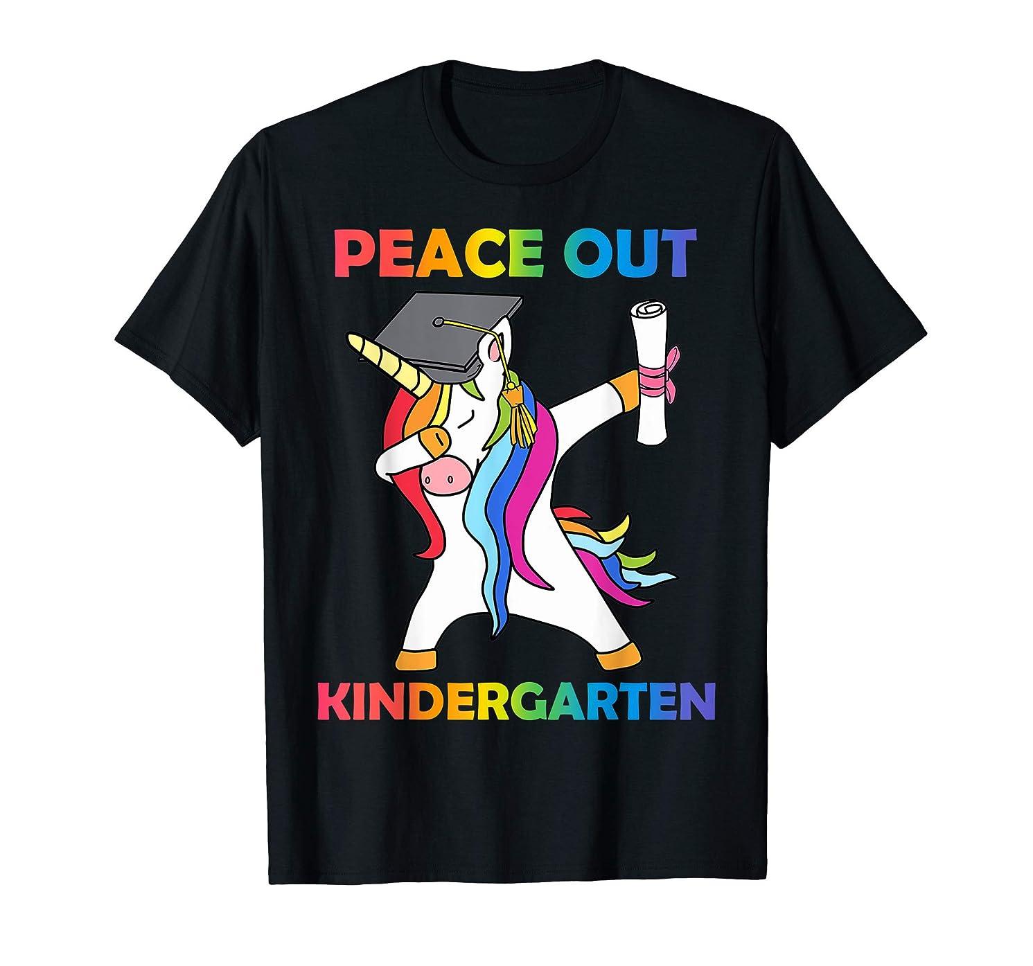 Kids Peace Out Kindergarten Shirt - Last Day of School Shirt