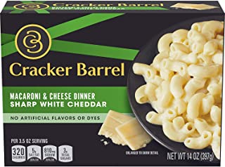 Cracker Barrel Sharp White Cheddar Macaroni & Cheese Dinner (14 oz Box) (4 Pack)