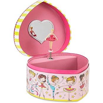 Jewelkeeper - Caja Musical para Joyas en Forma de Corazón con ...