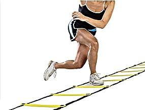 ISO TRADE Coördinatieladder trainingshulp ladder voetbal snelheidstraining verstelbaar 6M 12 sporten #5067