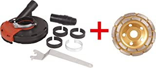 Dastool Expert Surface Grinding Dust Shroud for Angle Grinder, Universal 5-Inch + Diamond grinding cup wheel Dt1701-125D