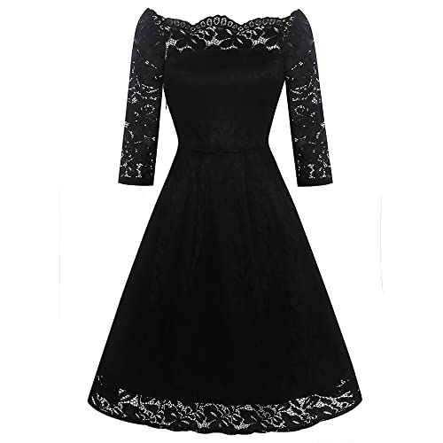 7dc31e0bf9 oxiuly Women s Off Shoulder Lace Stretch Cocktail Party Casual Swing Dress  OX228