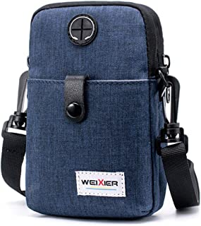 New Men's Mobile Phone Pockets, Multi-Function Casual one-Shoulder Diagonal Outdoor Sports Small Bag