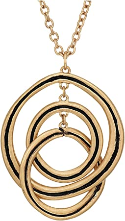 The Sak - Ribbed Orbit Pendant Necklace 28