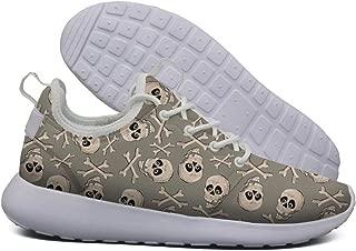 ipdterty Wear-Resistant Climbing Sneaker Cool Skull Men Light Athletic Running Shoes