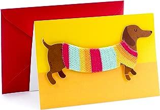 sausage dog thank you card
