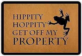 Front Door Mat Welcome Mat HippityHoppityGetOffMyProperty Rubber Non Slip Backing Funny Doormat Indoor Outdoor Rug 2...