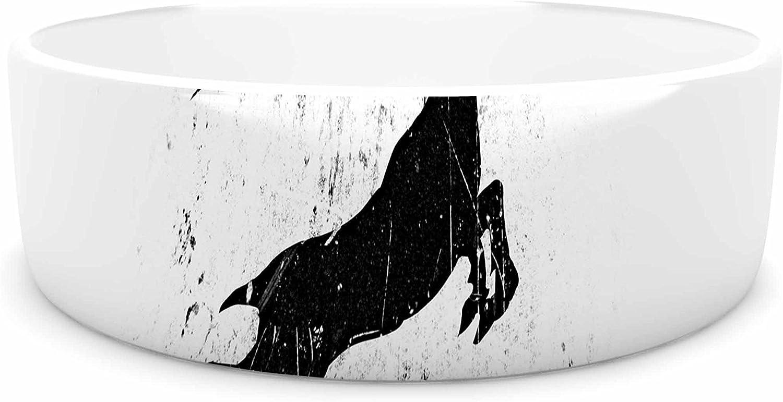 KESS InHouse Barmalisirtb Fastest Runner  Black White Pet Bowl, 7