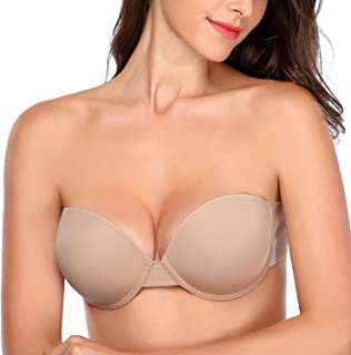 JOATEAY Women's Strapless Self Adhesive Bra Reusable Backless Sticky Push Up Bra Invisible