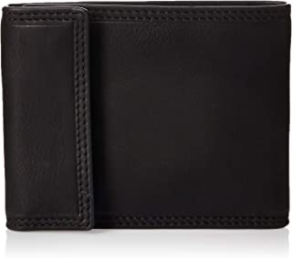 "Fossil Men's Ness Bi-Fold Wallet, Black, 3.62""L x 1.06""W x 3.54""H"
