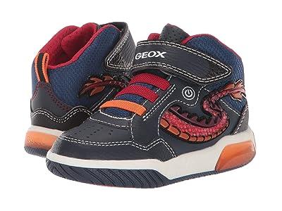 Geox Kids Jr Inek 7 (Toddler) (Navy/Red) Boys Shoes
