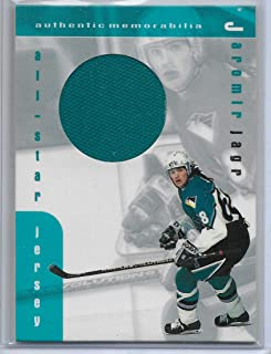 1999-00 ITG Be A Player Hockey Jaromir Jagr Game Worn All-Star Jersey Card #J-18