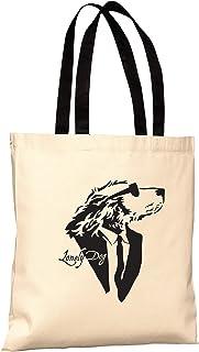 Lonely Dog Cotton Tote Bag, Lightweight Medium Reusable Shopping Cloth Bag