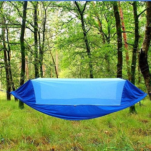 YHONG-Hammock Camping Hamac Set avec Moustiquaire D'arbres voitureabiners Cordes Double portable de plein air Léger Nylon Hamac pour Camping Randonnée Pédestre Jardin Voyage