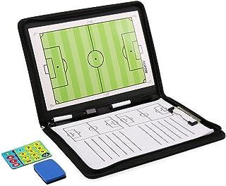 2e9f0b7b781 AGPTEK Carpeta Táctica Plegable con Cremallera para Entrenamiento de Fútbol  con Imanes, Lapiceros, Mapas
