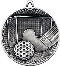 Lapal Dimension Hockey Deluxe Medaille - Antiek Zilver 2,3 inch Pack van tien