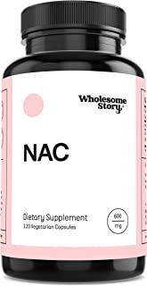 Sponsored Ad - NAC (N-Acetyl-L-Cysteine) by Wholesome Story | 120 Veggie Caps | 600mg | Amino Acid | Increases Glutathione...