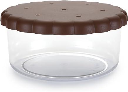 Centro de mesa Jarr/ón con tapa Ampolla Alzatina tarro para galletas para confettata caramelizada Puerta Confetti de cristal transparente H 27/cm