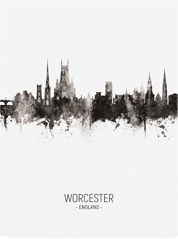 Trademark Fine Art Worcester England Skyline Portrait II