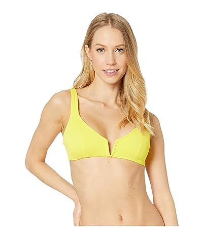 Maaji Victory Reversible V-Wire Bikini Top (Submarine Yellow Rib) Women