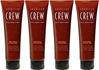 American Crew Firm Hold Styling Gel for Men, 8.4 Ounce pack of 4