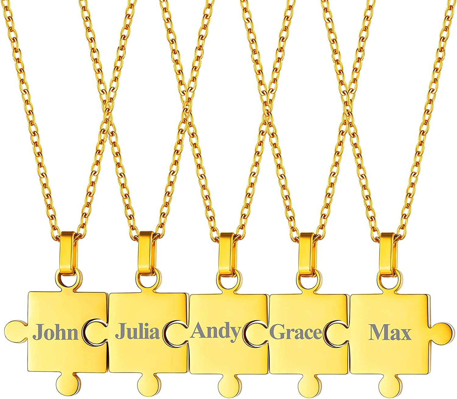 FaithHeart Luxury Puzzle Matching Necklace Personalized Custom BFF Max 84% OFF Pend