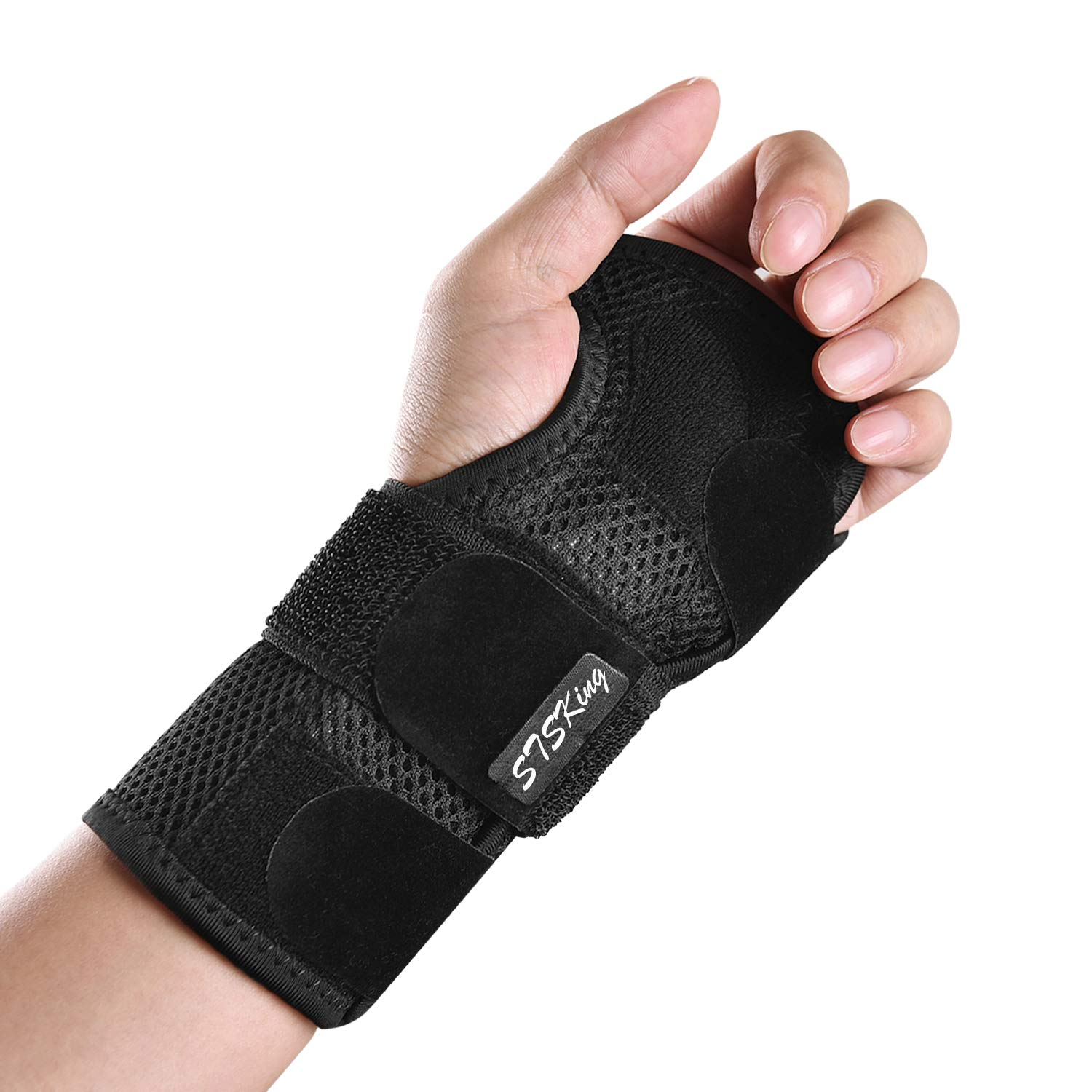Wrist Brace for Carpal Tunnel - Adjustable Wrist Support Brace with Splints Left Hand - Hand Support Removable Metal Splint and to Help Night Sleep Relieve and Treat Wrist Pain, Sports