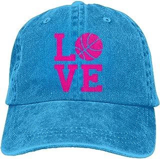 Love Basketball Denim Hat Popular Unisex Washed Cap Dad Stetson Hat