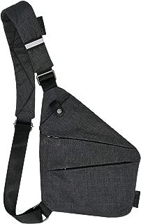 Fashion Left hand Digital Silm Shoulder Bag Men Multi-functional Crossbody Backpack Anti-theft Gun Chest Bag (Left Hand)