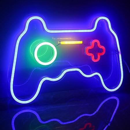 Ineonlife Spiel Leuchtreklame Gaming Neon Schild Übergröße Spielförmige Leuchtreklamen Neonlicht für Wand Kinder Zimmer Spielzimmer Bar Party Dekoration