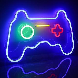 Ineonlife Spiel Leuchtreklame Gaming Neon Schild Übergröße Spielförmige Leuchtreklamen Neonlicht für Wand Kinder Zimmer Sp...