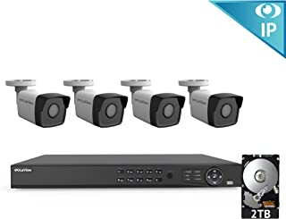 LaView 8 Channel 1080p Home Security System with 4 1080p Bullet Cameras, 2TB Storage - Outdoor weatherprood IP Poe Surveillance Cameras, 100ft Night Vision - LV-KN988P84A4-T2