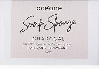 Sabonete Com Esponja Carvão, Charcoal Soap Sponge, Océane, Océane, Carvão