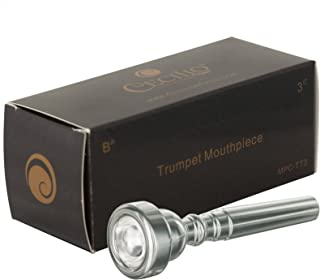 Cecilio Trumpet Mouthpiece, 3C, Silver Plated