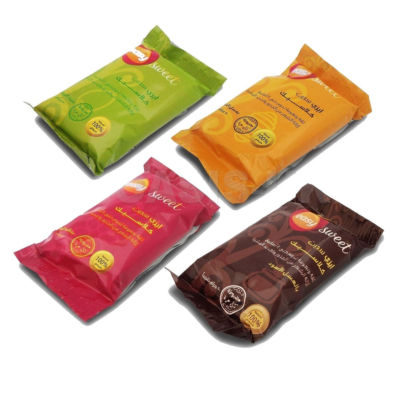 耐久記念合併症4 X 50 gm Sweet Packets Sugaring Sugar Wax Hair Removal 100% Natural All Essence