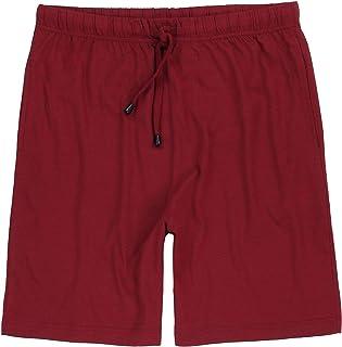 ADAMO Gerd Men's Short Pyjama Bottoms in Plus Sizes 2XL-10XL Wine Red